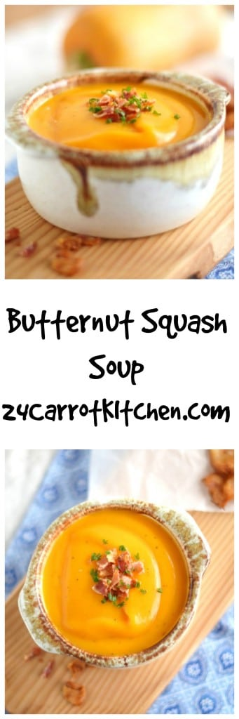 Butternut Squash Paleo Soup - 24 Carrot Kitchen