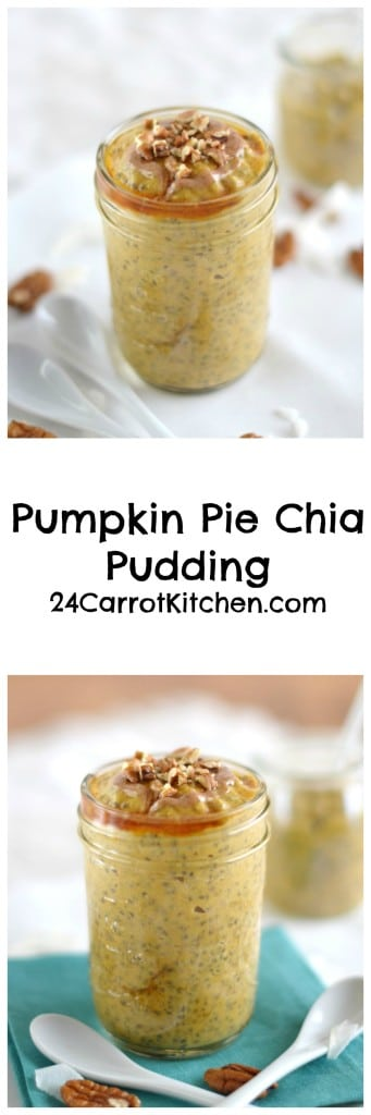 Pumpkin Pie Chia Pudding - 24 Carrot Kitchen