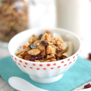Grain Free Cranberry Nut Granola