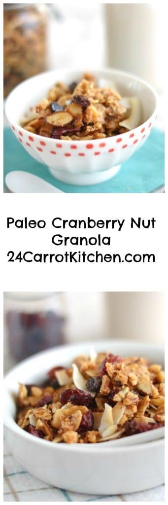 Grain Free Cranberry Nut Granola - 24 Carrot Kitchen