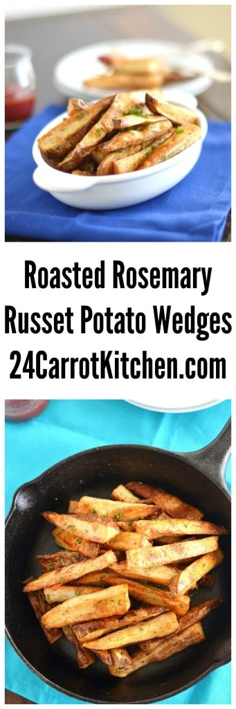 Roasted Rosemary Russet Potato Wedges - 24 Carrot Kitchen