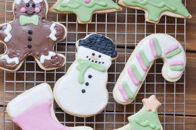 vegan sugar cookies - dairy-free Christmas cutout cookies!
