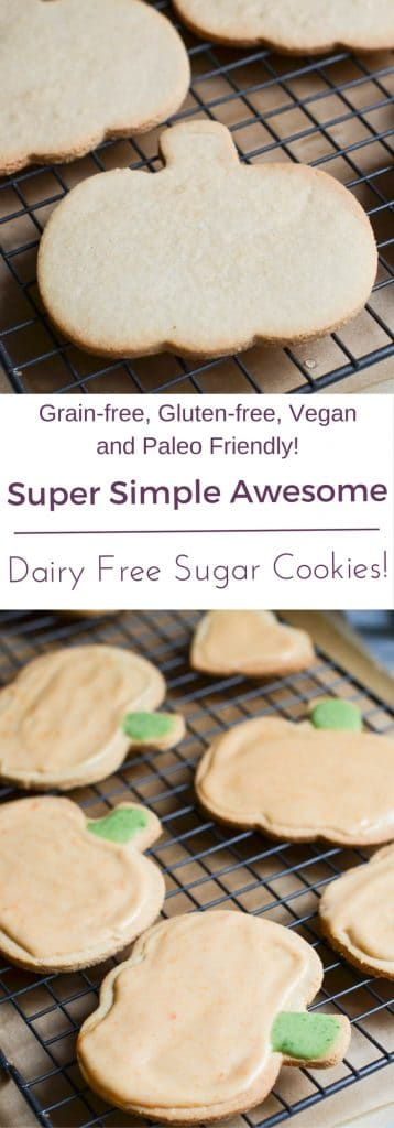 Dairy Free Sugar Cookies PIN - 24 Carrot Kitchen