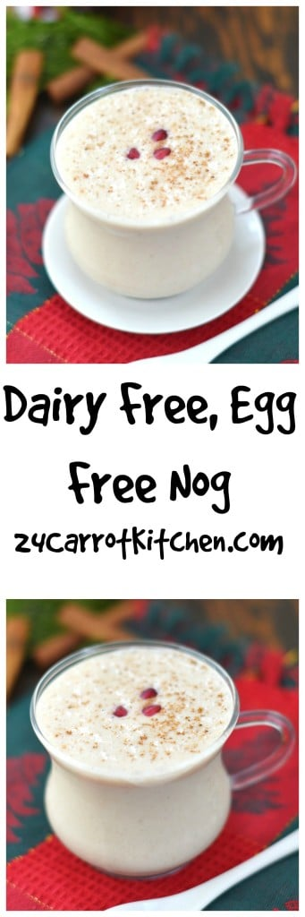 Dairy Free, Egg Free Nog - 24 Carrot Kitchen