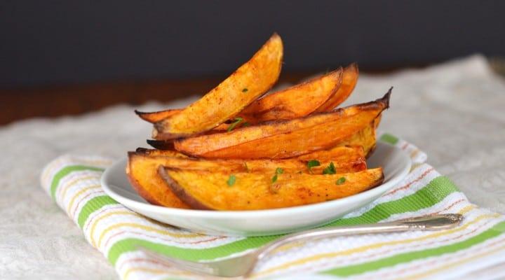 Oven Roasted Sweet Potato Wedges