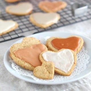 Coconut Flour Paleo Valentine's Heart Cookies - 24 Carrot Kitchen
