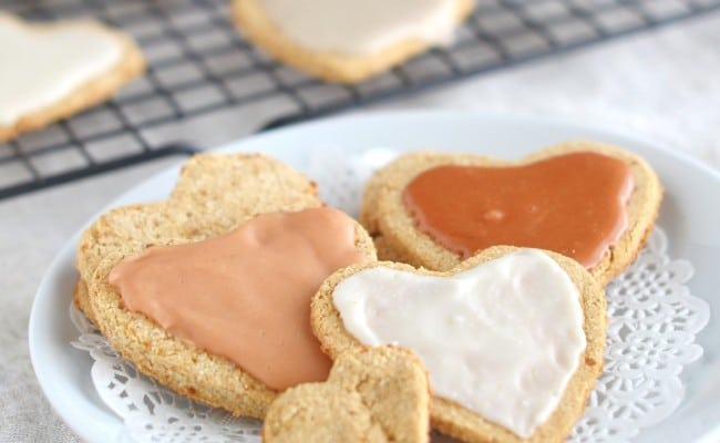 Coconut Flour Valentine's Day Heart Cookies