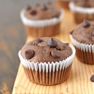 Paleo Double Chocolate Chip Muffins - 24 Carrot Kitchen