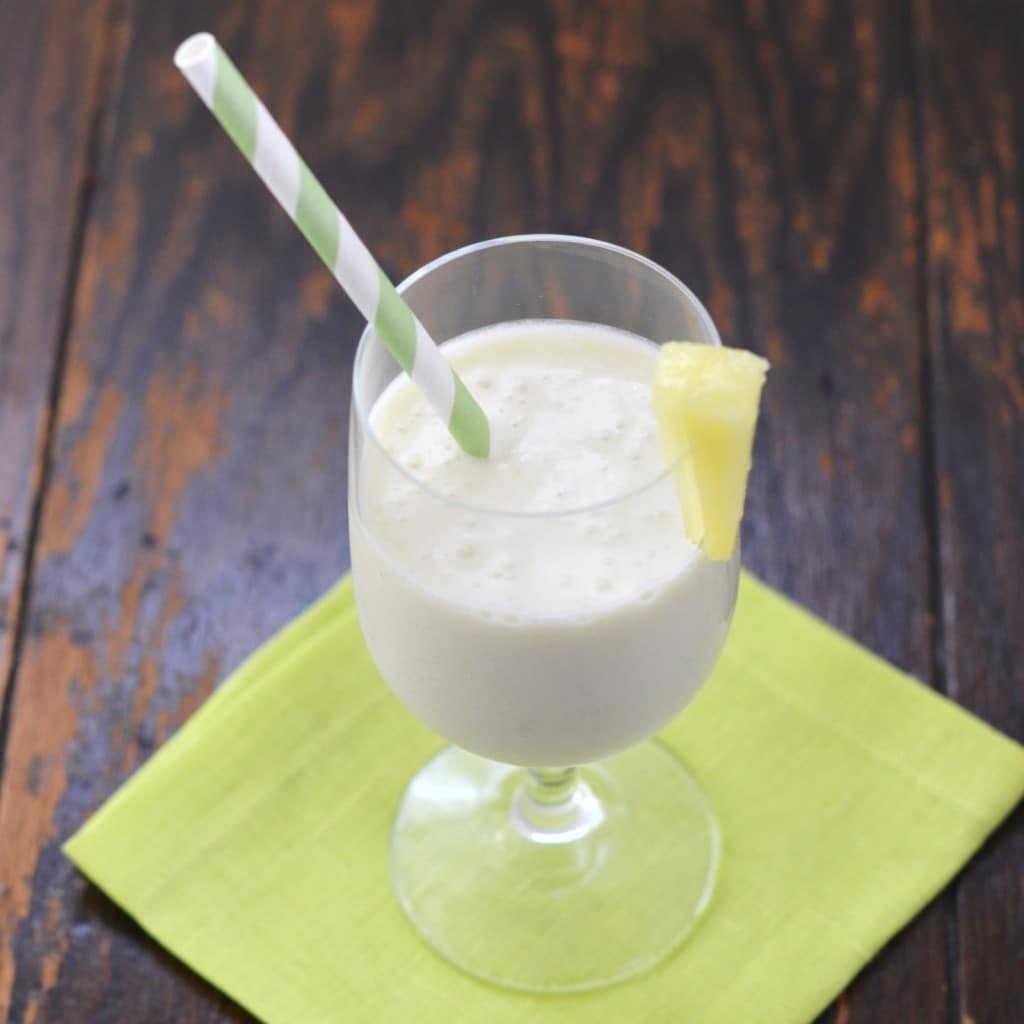 Dairy Free Tropical Pina Colada Smoothie - 24 Carrot Kitchen