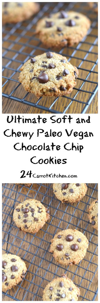 Ultimate Soft and Chewy Paleo Vegan Chocolate Chip Cookies - 24 Carrot Kitchen