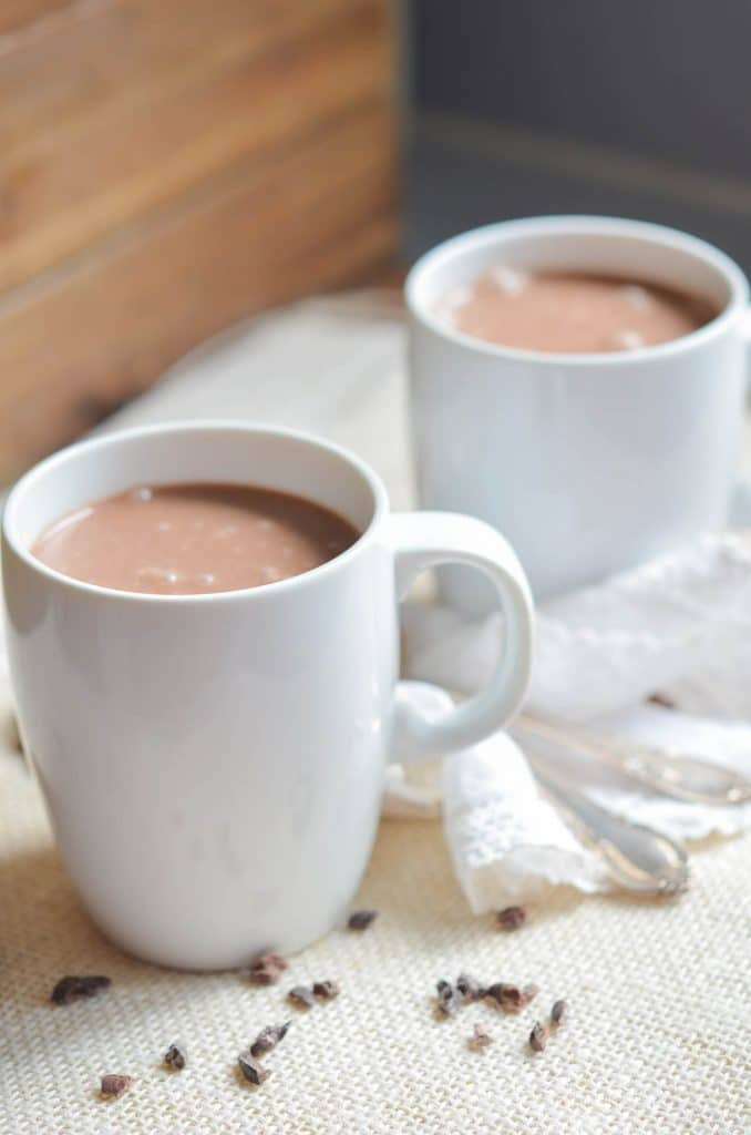 Dairy-Free Hot Chocolate in mugs - 24 Carrot Kitchen