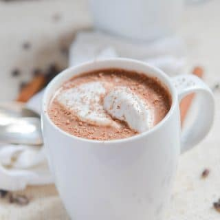 Dairy-Free Hot Chocolate in a mug - 24 Carrot Kitchen