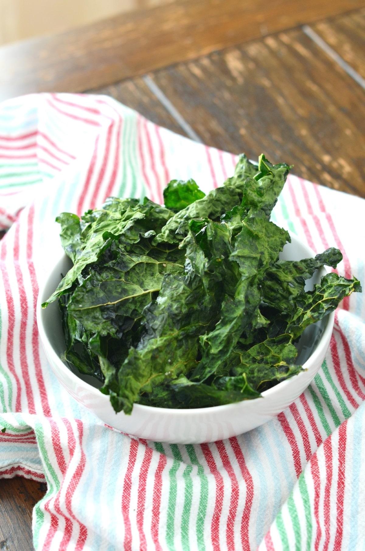Crispy Oven Baked Kale Chips - 24 Carrot Kitchen
