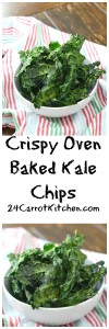 Crispy Oven Baked Kale Chips - 24 Carrot Kitchen