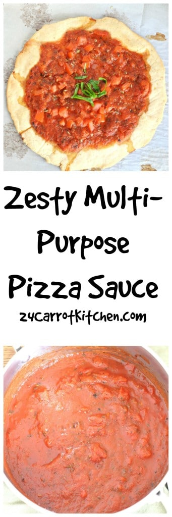 Zesty Multi-Purpose Pizza Sauce - 24 Carrot Kitchen