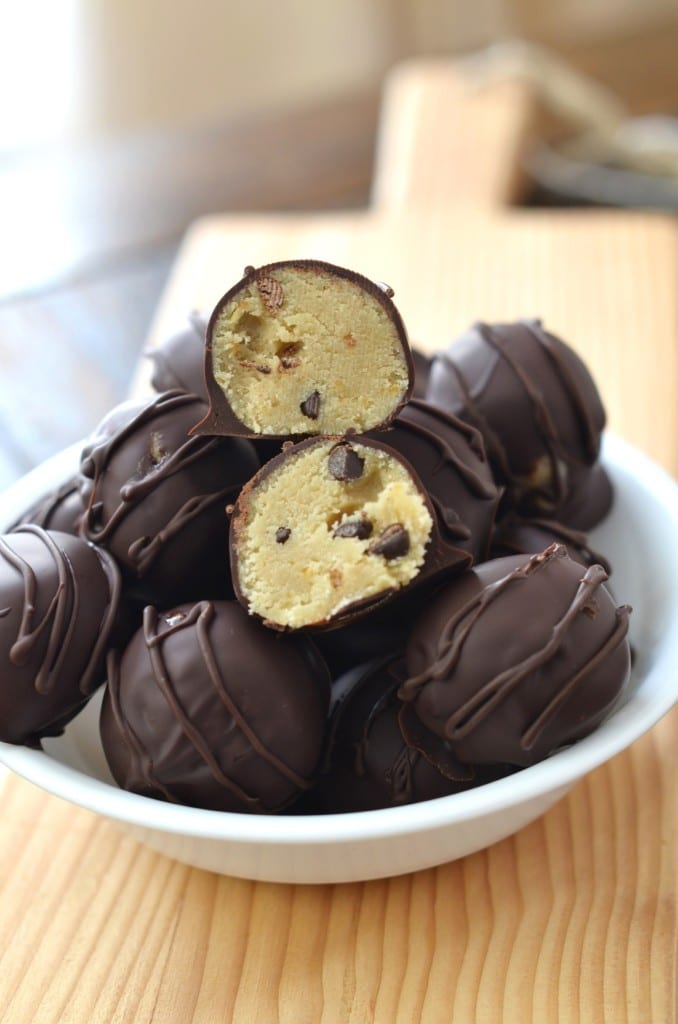 Chocolate Chip Cookie Dough Truffles - 24 Carrot Kitchen
