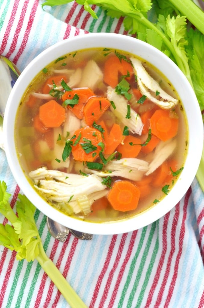 Paleo Chicken Soup in a bowl - 24 Carrot Kitchen