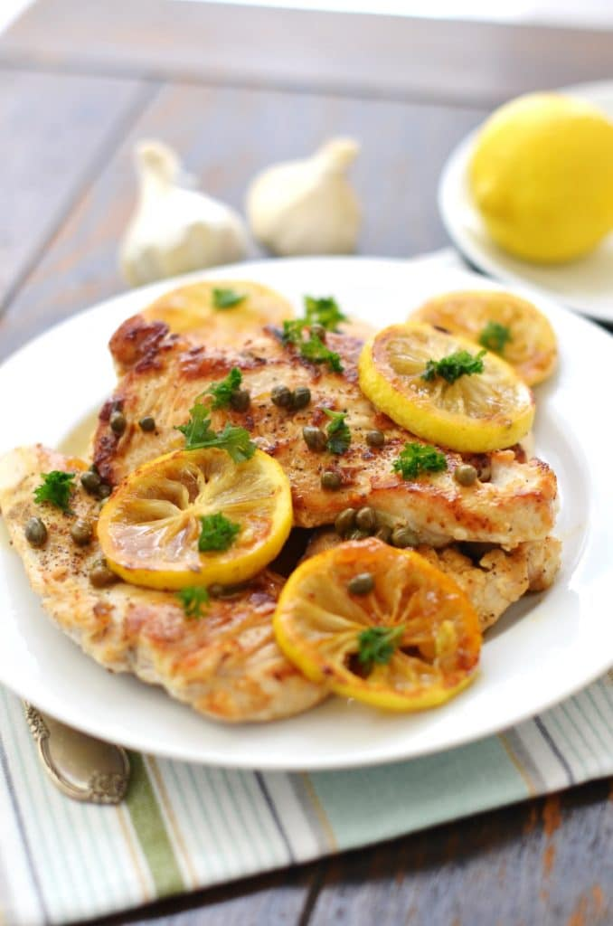 Grain Free Chicken Piccata - 24 Carrot Kitchen