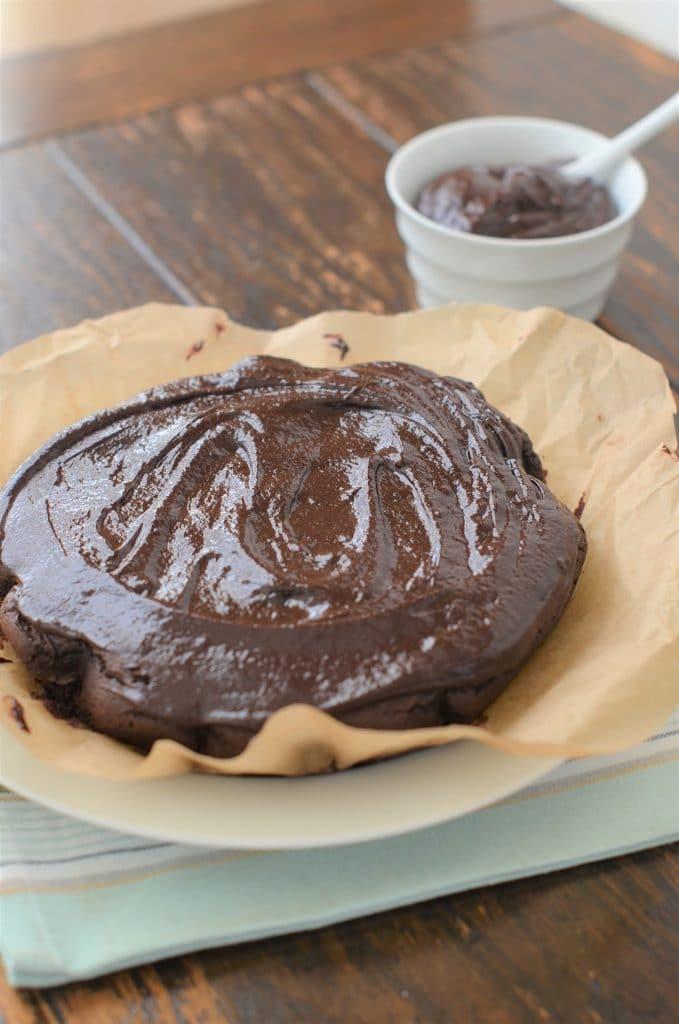 Paleo Chocolate Cake With Chocolate Ganache Icing - 24 Carrot Kitchen