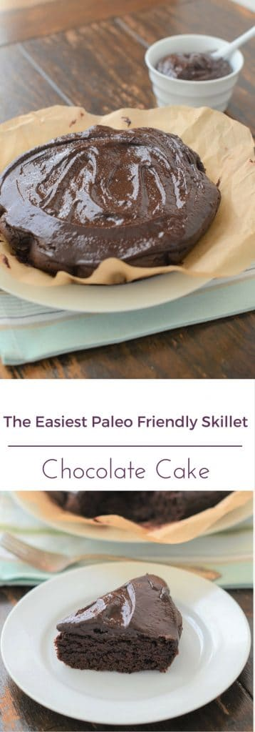 How To Make The Easiest Paleo Friendly Skillet Chocolate Cake - 24 Carrot Kitchen