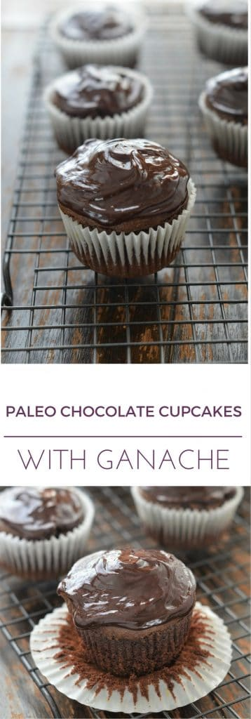 Paleo Chocolate Cupcakes with Ganache - 24 Carrot Kitchen