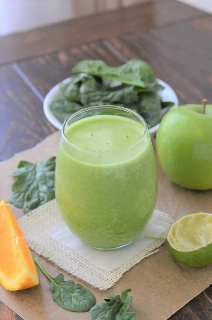 Spinach Apple Smoothie - 24 Carrot Kitchen