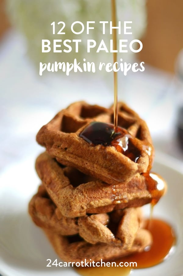 Paleo Pumpkin Recipes that are scrumptious!  I love that they are not difficult to make and they're made with Paleo baking ingredients you most likely already have on hand.  You will want to Pin this for later! #Paleo #grain-free #gluten-free #dairy-free #pumpkin