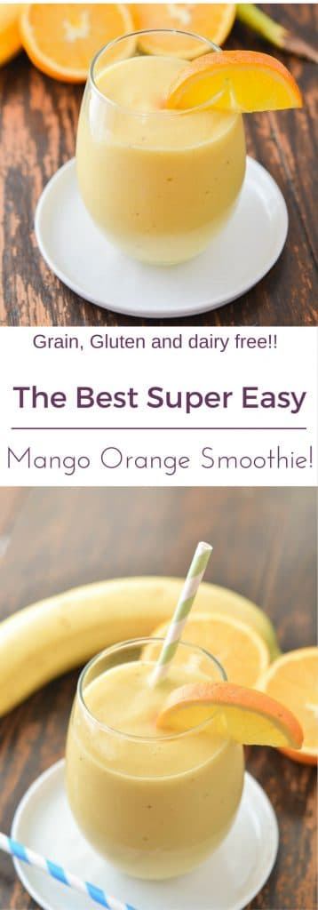 Mango Orange Smoothie PIN - 24 Carrot Kitchen