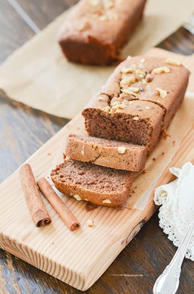 Flourless Banana Bread sliced - 24 Carrot Kitchen