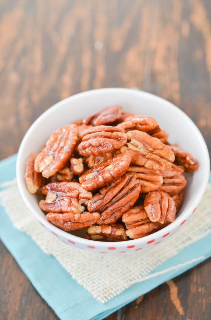 Maple Pecans in Bowl - 24 Carrot Kitchen