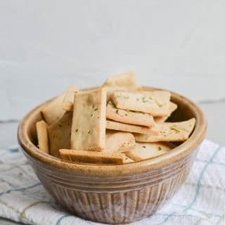 Paleo crackers in a bowl - 24 Carrot Kitchen