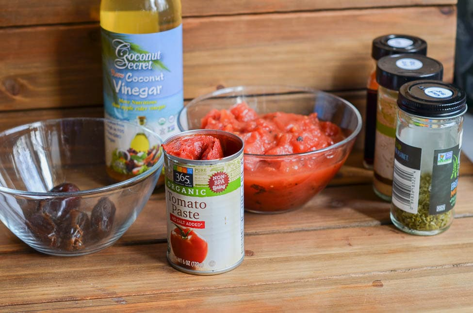 All the ingredients to make Whole30 Ketchup - 24 Carrot Kitchen