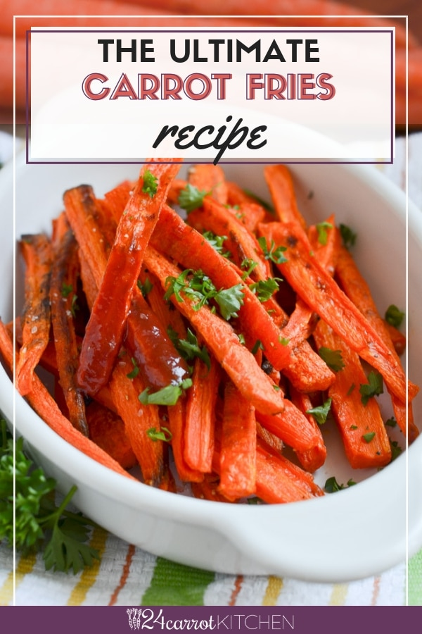 Carrot Fries on a platter.