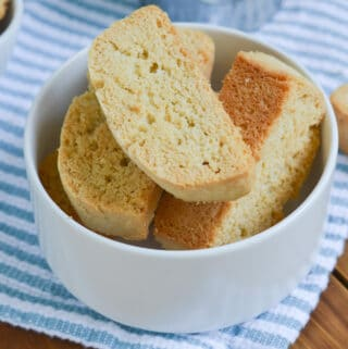 Italian biscotti in a bowl.